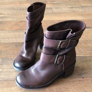 sam edelman two strap buckle booties Sz 9
